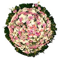 Floricultura - Coroa de Flores Delicada Lilás
