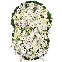 Floricultura - Coroa de Flores Prime Branca