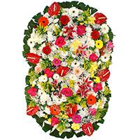 Floricultura - Coroa de Flores Suprema Colorida