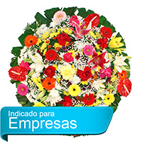 Floricultura - Coroa de Flores Luxo Colorida