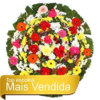 Floricultura - Coroa de Flores Tradicional Colorida