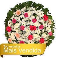 Floricultura - Coroa de Flores Tradicional Rosa