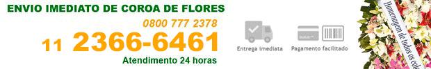 Coroa de Flores - Floricultura 24 horas no Cemitério Jardim Santa Lidia