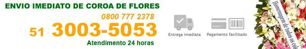 Coroa de Flores - Floricultura 24 horas no Cemitério Municipal de São João Rio Grande do Sul/RS