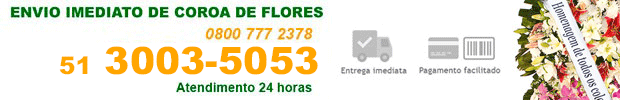 Coroa de Flores - Floricultura 24 horas no Cemitério Evangélico Rio Grande do Sul/RS