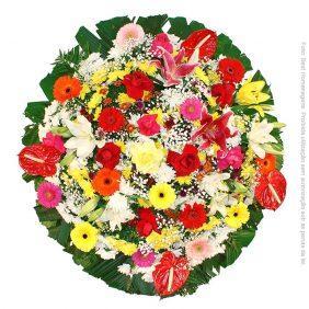 Coroa de Flores Luxo Colorida
