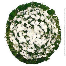 Coroa de Flores Popular Branca