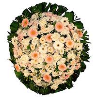 Floricultura - Coroa de Flores Delicada Rosa