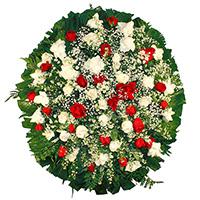 Floricultura - Coroa de Flores Delicada Vermelha