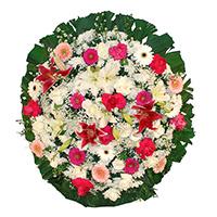 Floricultura - Coroa de Flores Luxo Rosa