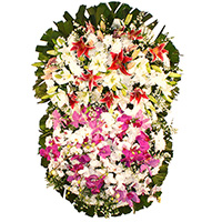 Floricultura - Coroa de Flores Magnífica