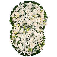 Floricultura - Coroa de Flores Suprema Branca