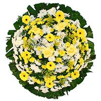Floricultura - Coroa de Flores Tradicional Amarela