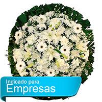 Floricultura - Coroa de Flores Luxo Branca