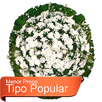 Floricultura - Coroa de Flores Popular Branca