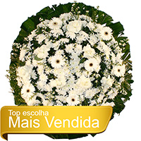 Floricultura - Coroa de Flores Tradicional Branca