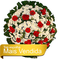 Floricultura - Coroa de Flores Tradicional Vermelha